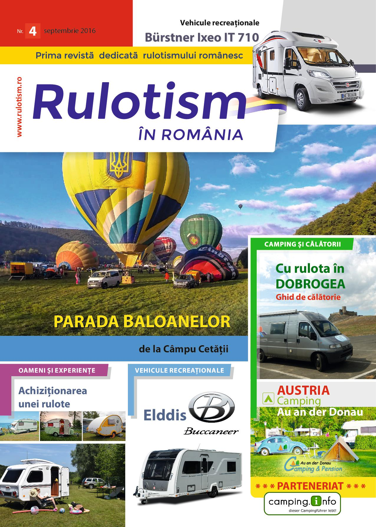 Rulotism in Romania septembrie 2016